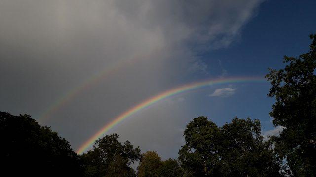 Regenbogen über Treptow